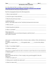 The Remains Of Doctor Bass Questions And Answer Key : remains, doctor, questions, answer, Macromolecules, Assignment.docx, Name_Date_Block, Introduction, Website, Echalk, Course