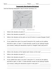 Topographic Map Reading Worksheet Answer Key : topographic, reading, worksheet, answer, Topographic, Skills, 2020.pdf, Period, Reading, Worksheet, Following, Answer, Questions, Course