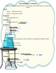 800 Ml To Grams : grams, Reyna, Copy.docx, Concentrations, Solutions, Percentage, Grams, Dissolved, Water, Given, Solute, Course