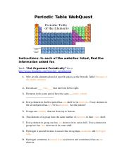 Periodic Table Webquest Answer Key : periodic, table, webquest, answer, Periodic_Table_WebQuest.doc, Periodic, Table, WebQuest, Instructions, Websites, Listed, Information, Asked, Organized, Course