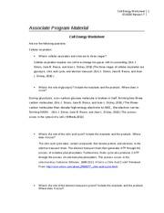 Cellenergyworksheet Is Done!!!  Cell Energy Worksheet Sci230 Version 7 Associate Program