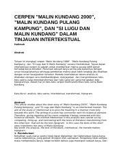 Cerita Malin Kundang Singkat : cerita, malin, kundang, singkat, MALIN, KUNDANG.docx, KUNDANG, Small, Village, Beach, Sumatra, Lived, Woman, Malin, Kundang, Course