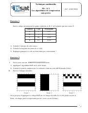 Taux De Compression Par Rapport à Un Code Ascii : compression, rapport, ascii, 2.pdf, Techniques, Multim\u00e9dia, N\u00b02, Algorithmes, Compression, Pertes, 2020\/2021, Exercice, Codage, Suivant, Quatre, Course