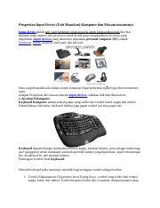 Peralatan Input Yang Digunakan Untuk Bermain Game Adalah : peralatan, input, digunakan, untuk, bermain, adalah, INPUT.docx, INPUT(TIK, Jenis, \u2013, Input, Komputer, Fungsinya, Perangkat, Keras, Secara, Fisik, Terdiri, Course
