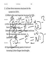 Resonance Structures For Ocn : resonance, structures, Resonance, Structures(1)(1).doc, McCollum, Three, Structures, Cyanate, Ion(OCN\u2013, Which, Course