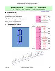 Perhitungan Kolom Baja Dengan Excel : perhitungan, kolom, dengan, excel, Steel-beam-column.xls, Perhitungan, Struktur, Dengan, Microsoft, Excel, PERHITUNGAN, BALOK, KOLOM(BEAM, COLUMN, ELEMEN, STRUKTUR, RAFTER[C]2011, Course