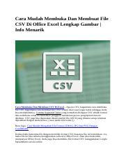 Cara Membuka File Csv Pajak Di Excel 2010 : membuka, pajak, excel, Mudah, Membuka, Membuat, Office, Excel, Lengkap, Gambar.docx, Gambar, Course