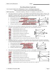 Describing Motion Graphically : describing, motion, graphically, Motion, Graphing.pdf, Dimension, Describing, Graphically, Study, Lessons, Kinematics, Chapter, Physics, Course
