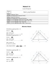 Aturan Sinus Cosinus Dan Luas Segitiga : aturan, sinus, cosinus, segitiga, Aturan, Sinus,, Cosinus, Segitiga.docx, Materi, Pelajaran, 5.5.a, 5.5.b, 5.5.c, 5.5.d, 5.6.a, 5.6.b, 5.6.c, Course