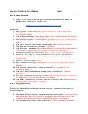 Ecological Succession Worksheet Answer Key : ecological, succession, worksheet, answer, Plant08, Ecological, Succession, Worksheet, Answers, ECOLOGICAL, SUCCESSION, Video, Questions, Click, Below, Watch, Course