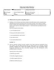 Contoh Soal Bahasa Indonesia Kelas 12 Semester 1 dan