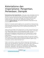 Arti Kolonialisme Dan Imperialisme : kolonialisme, imperialisme, Kolonialisme, Immperialisme, Indonesia.docx, Imperialisme, Pengertian, Perbedaan, Dampak, \u2013, Course