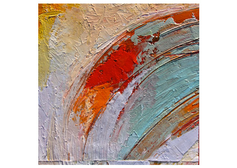 abstract painting in acrylic
