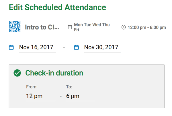 edit attendance