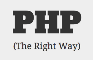 php the right way tutorials