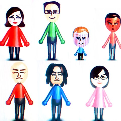A bunch of Wii Mii avatars