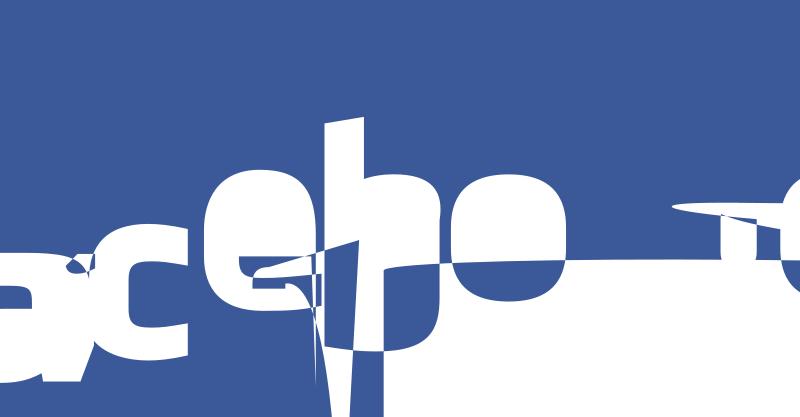 A glitched Facebook Logo