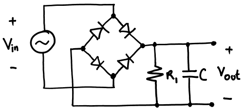 Ac To Dc Converter Circuit Using Diode