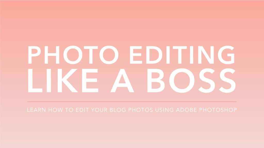 Learn to Edit Your Photos with Adobe Lightroom or Photoshop For Professional Quality Finals - I'll show you the easy way to get amazing photographs you'll be proud to show off on your blog or products.