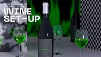 Create your first Cinema 4D scene Wine Set-up