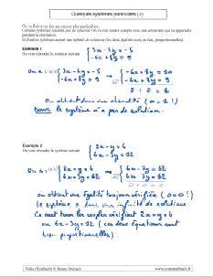 savoir comment resoudre systeme equations - des cas particuliers ( 2 )