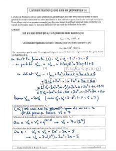 comment savoir montrer qu une suite est geometrique - methode et exemple 1