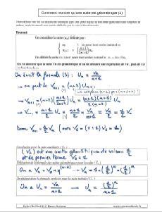 comment savoir montrer qu une suite est geometrique - methode et exemple 2
