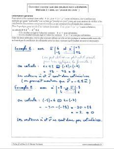 methode comment montrer vecteurs colineaires avec produit en croix determinant