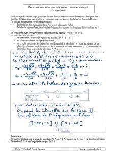 la methode pour comment resoudre une inequation du second degre