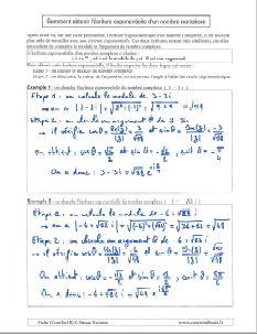 comment savoir calculer calcul obtenir ecriture trigonometrique nombre complexe - module et argument