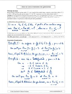 comment calculer une limite suite avec theoreme des gendarmes
