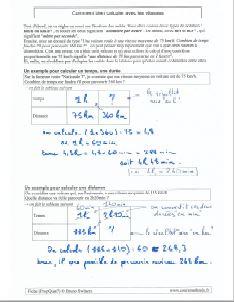 bien utiliser les vitesses - comment savoir faire calculs avec vitesses