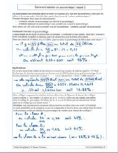 calcul comment calculer un pourcentage - methode exemples applications