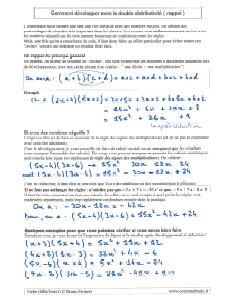 la double distributivité ( rappel ) - comment savoir développer une expression