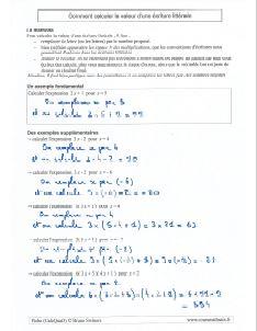 savoir remplacer la lettre x et comment calculer la valeur d'une expression littérale et algébrique