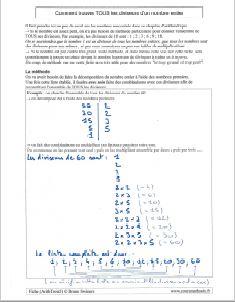 comment savoir trouver tous les diviseurs d un nombre - utilisation des nombres premiers