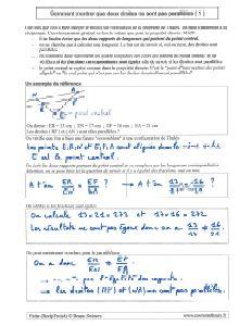comment savoir montrer droites non paralleles - exemple 1 - contraposee reciproque propriete theoreme de thales