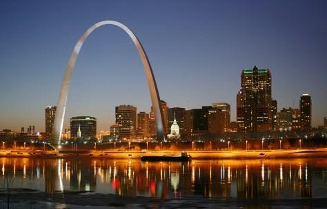 St. Louis skyline at night