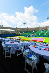 View form the VIP court side seating COURTGIRL Lifestyle Experience at the Mylan World TeamTennis Finals, Forest Hills Stadium Concert Stage