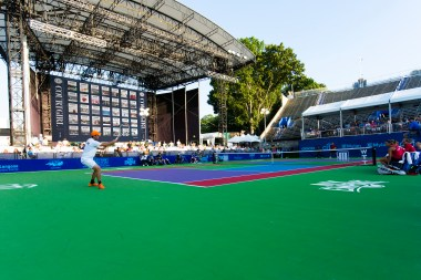 COURTGIRL Lifestyle Experience at the Mylan World TeamTennis Finals, Forest Hills Stadium Concert Stage