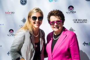Billie Jean King with COURTGIRL Editor