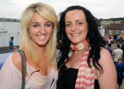 Enjoying Courtmacsherry Regatta were (left to right) Susie Blake, Courtmacsherry and Sarah Moriarty, Ballincollig. Picture: Martin Walsh.