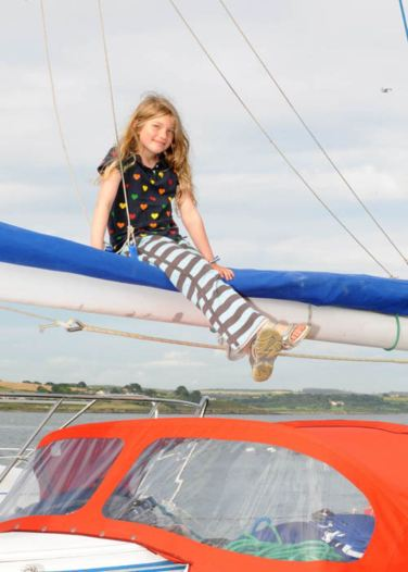 Olivia Fenton, Essex, England, on a sailing trip around Ireland and Britain took time for the Courtmacsherry Regatta. Picture: Martin Walsh.