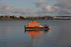 lifeboat in winter