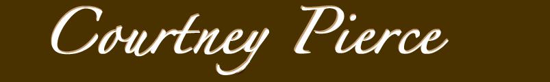 Courtney Pierce Name Logo