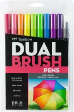I actually have this exact set of brush pens at home but that is why this image is not my own. These packs come in multiple sizes, but the ones I see the most are packs this size and packs of five.