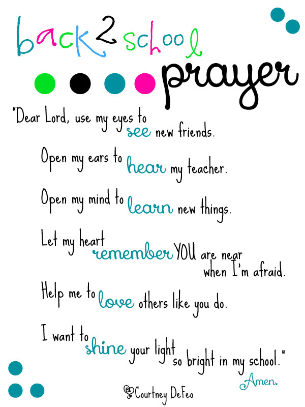 Image result for prayer for beginning of school year