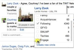 Engage in Google Plus
