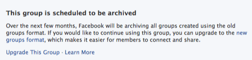 old Facebook group