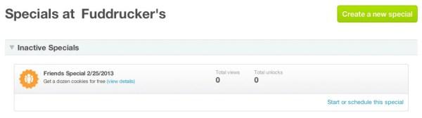 Foursquare Specials Review